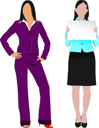 business event: Two women silhouettes. Vector illustration