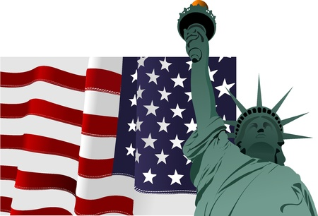 4th July – Independence day of United States of America. Poster for  graphic designers Stock Vector - 9722015