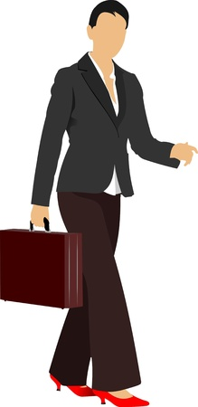 Business woman. Colored Vector illustration Stock Vector - 9720330