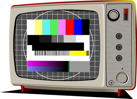 Retro TV with color frame Stock Vector - 9843362