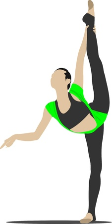 Woman gymnastics Vector