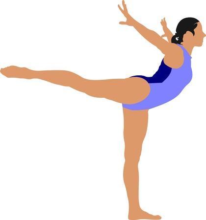 sports bar: Woman gymnastic illustration. Free callisthenics