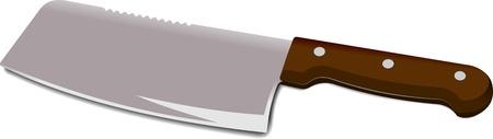 viande couteau: Couteau de chef de cuisine isol�e sur un fond blanc