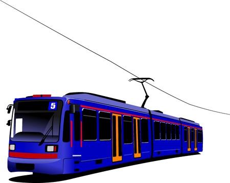 City transport. Tram. Vector illustration Stock Vector - 10013505