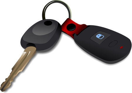 Car key with remote control isolated over white background  Stock Vector - 10013520