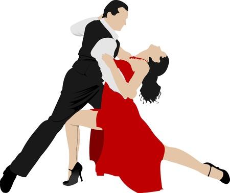 Couples dancing a tango Stock Vector - 10279398