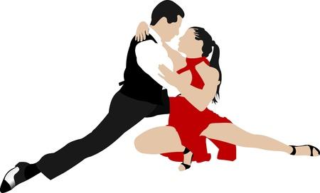 Couples dancing a tango Stock Vector - 10279386