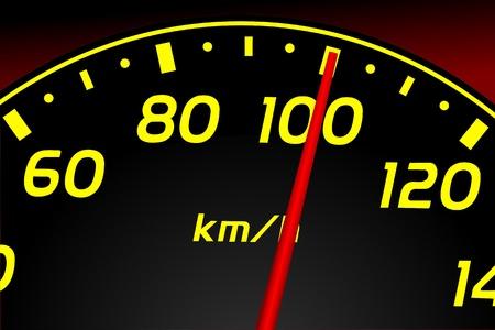 kph: Speedometer. Accelerating Dashboard. Vector illustration  Illustration