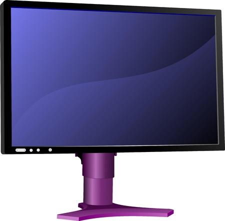 hd: Flat computer monitor. Display. Vector illustration