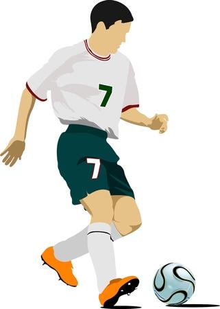 arquero: Los jugadores de f�tbol. Ilustraci�n del vector de color para los dise�adores