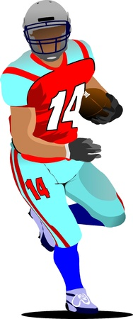 tackling: American football player s silhouettes in action. Vector illustration
