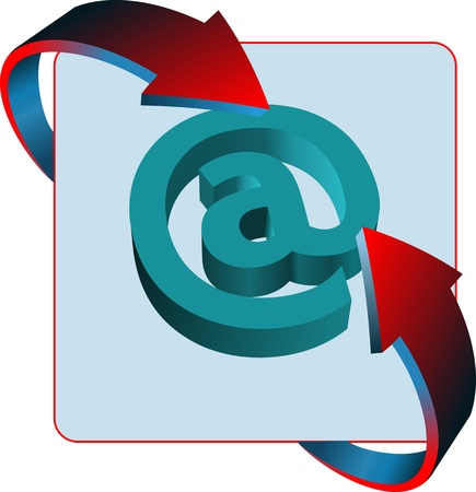 arobase: At mail sign contact vector icon