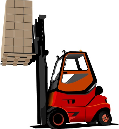lift and carry: Lift truck. Forklift.