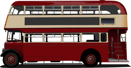 London Double Decker  red bus.  Vector