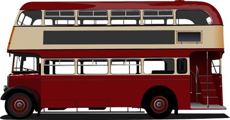London Double Decker roten Bus. Illustration