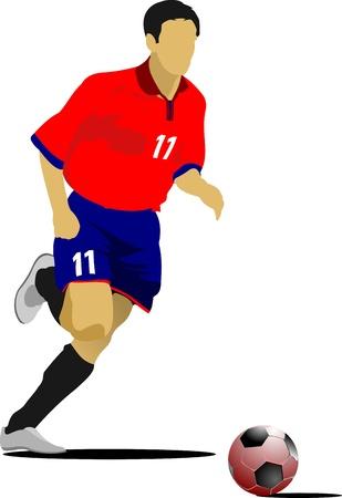 portero: Jugadores de fútbol. Ilustración color para diseñadores Vectores