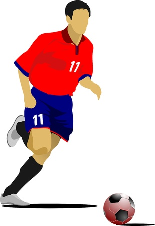 Soccer players. Colored illustration for designers Vector