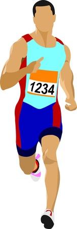 Long-distance runner. Short-distance runner. Stock Vector - 10556785