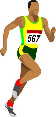road runner: Atleta. Corredor de corta distancia.
