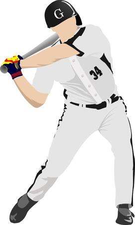 Baseball player. Vector
