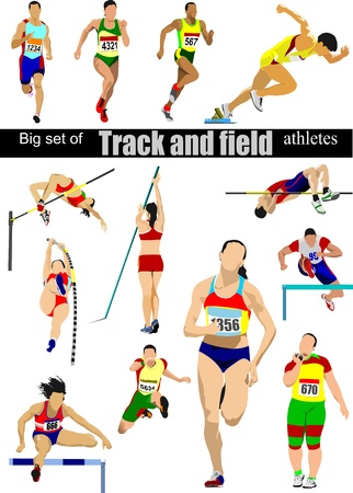 vaulting: Big cet of Track and field athletes.