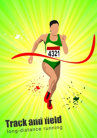track and field: Long-distance runner. Poster.