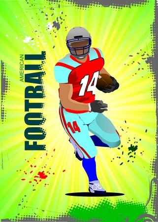 American football sport postes. Vector illustration Stock Vector - 11093293