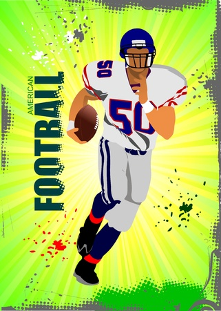 American football sport poster. Vector illustration Vector
