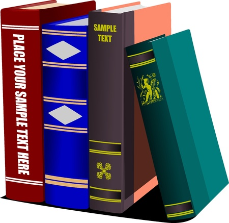 thesaurus: Library shelf book. Vector illustration