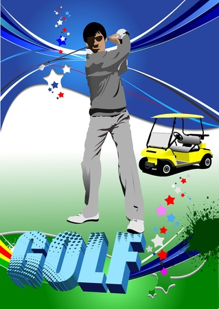 Golf players. Vector illustration  Vector