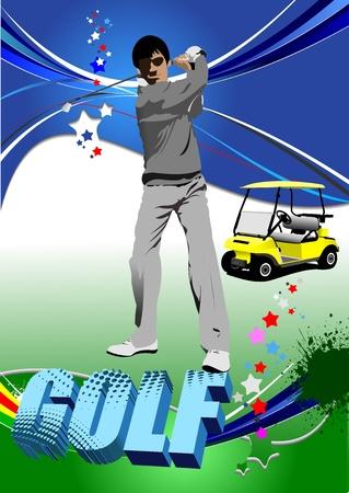 Golf players. Vector illustration Stock Vector - 11093311