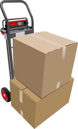 storehouse: Cajas de transpaleta manual. Ilustraci�n vectorial