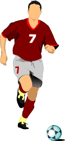 foot ball: Soccer player. Colored Vector illustration for designers Illustration