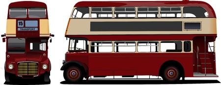 rarity: London double Decker  red bus. Vector illustration