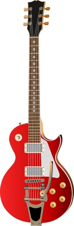 Electric guitar on a white background. Vector illustration