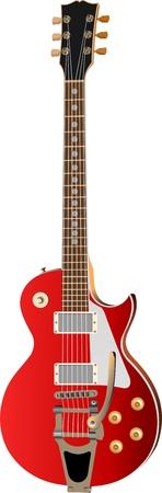 guitarra: Guitarra el�ctrica sobre un fondo blanco. Ilustraci�n vectorial Vectores