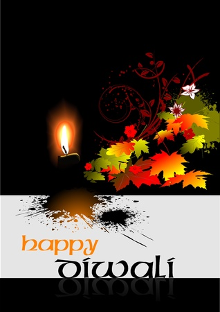 deepak: Diwali Greeting. Vector illustration