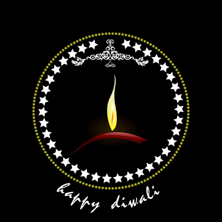 deepak: Diwali Greeting. Vector illustration