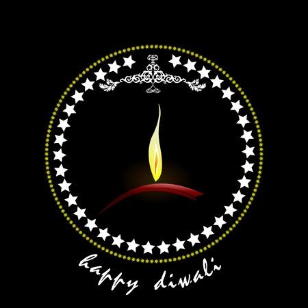 aum: Diwali Greeting. Vector illustration