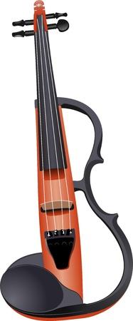Elektrische Violine isoliert über weiß. Vektor-Illustration