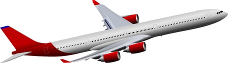 landing light: Passenger Airplanes.  Colored Vector illustration for designers Illustration