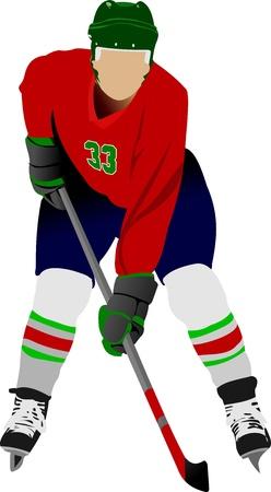 ice hockey player: Ice hockey players. Vector illustration Illustration