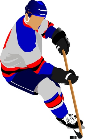 Ice hockey players. Vector illustration Illustration