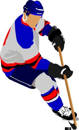 hockey rink: Jugadores de hockey sobre hielo. Ilustraci�n vectorial