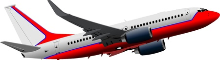 aircraft take off: Passenger  Airplane on the air. Vector illustration Illustration