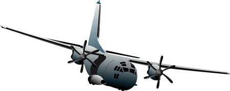 Combat aircraft. Colored vector illustration for designers Vector