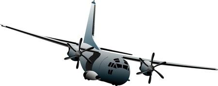 Kampfflugzeuge. Farbige Vektor-Illustration für Designer