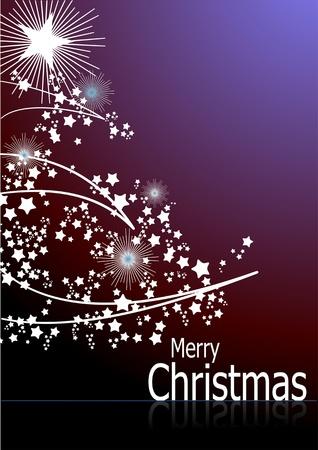 Nacht Weihnachten abstrakten Hintergrund mit weißen Schneeflocken Bild. Vektor-Illustration