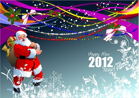 Greeting card for Merry Christmas or Happy New Year  Vector