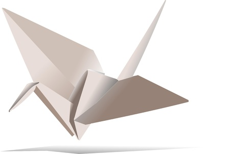 crane fly: Vector origami bird for your designs Illustration